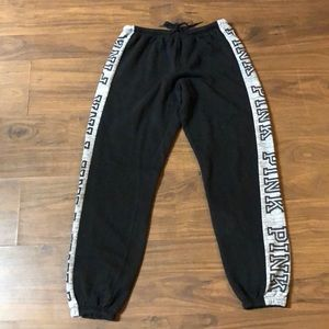 Pink Joggers - Size Small - Black/Grey